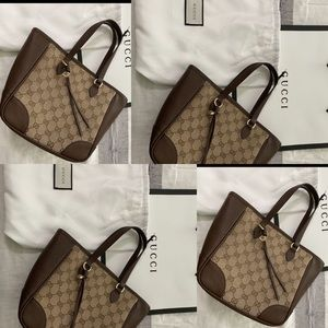 💫🔥🔥🛍💯 Gucci Bree Tote GG Canvas with Leather